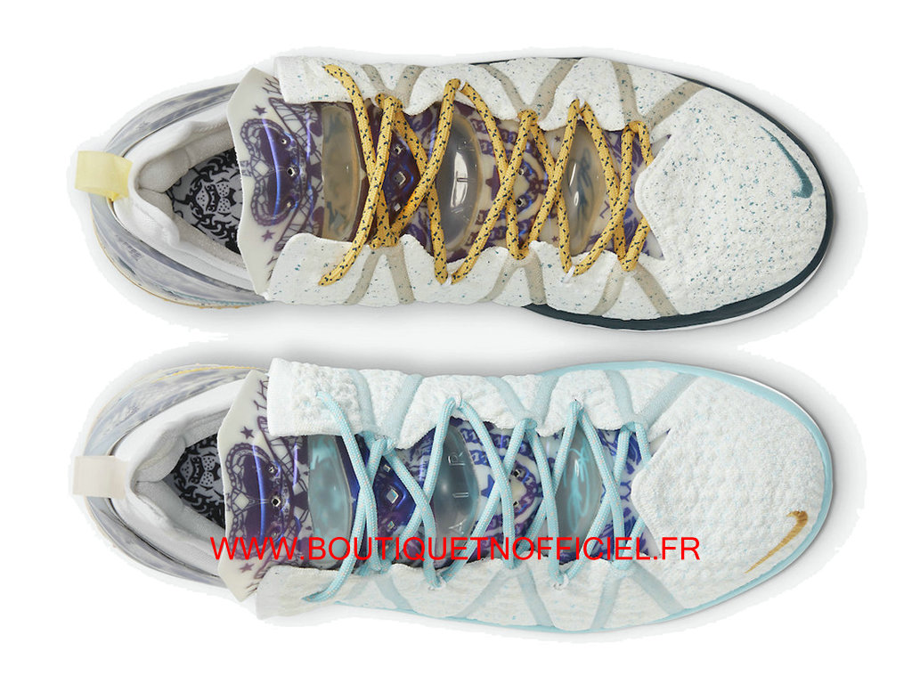 Officiel Nike LeBron 18 Chaussures Nike Basket Pas Cher Pour Homme White DB8148-100