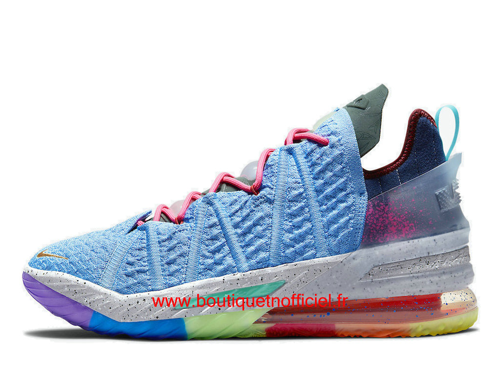 Officiel Nike LeBron 18 What The Chaussures Nike Sneaker Pas Cher Pour Homme DM2813-400