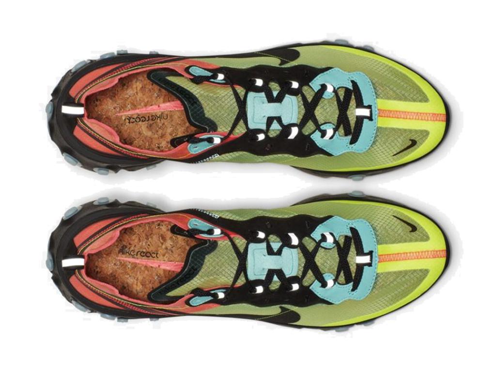 Officiel Nike React Element 87 Chaussures Nike Basket Pas Cher Pour Homme Noir Vert AQ1090 700 1907132666 Officiel Nike Site! Chaussures Tn