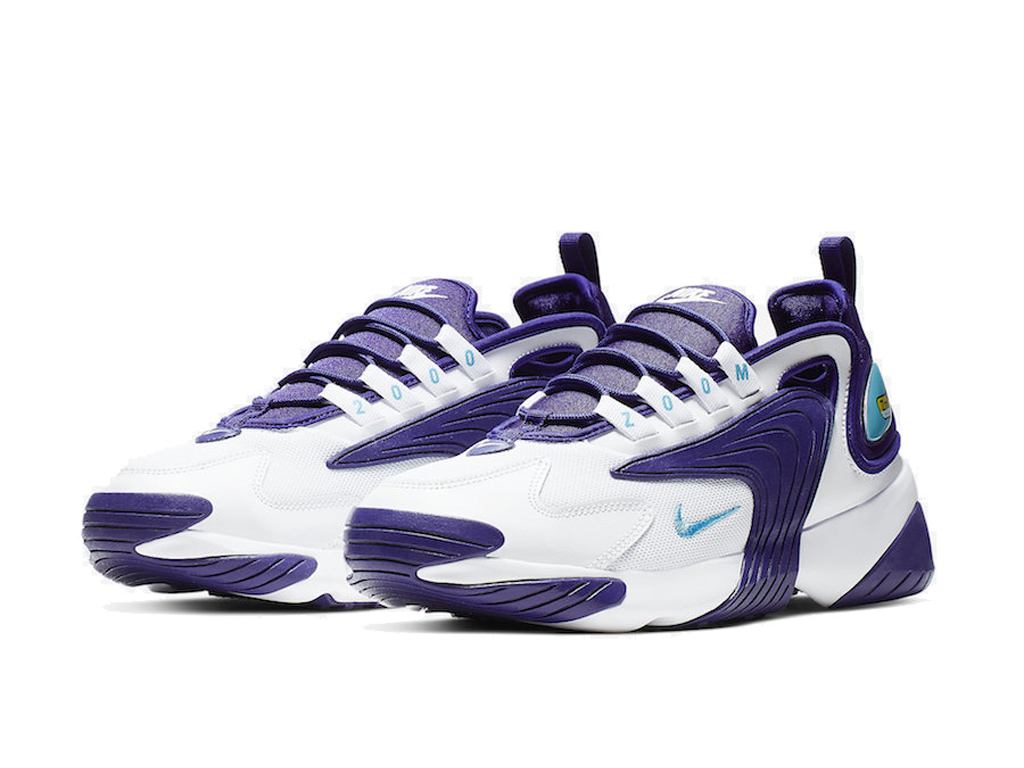 Officiel Nike Zoom 2K Chaussures Nike Basket Pas Cher Pour Homme Blanc Pourpre AO0269-104