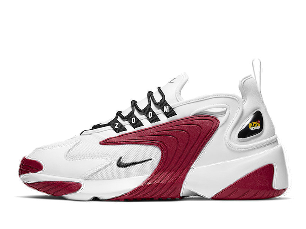 Officiel Nike Zoom 2K Chaussures Nike Basket Pas Cher Pour Homme Blanc Rouge AO0269-107