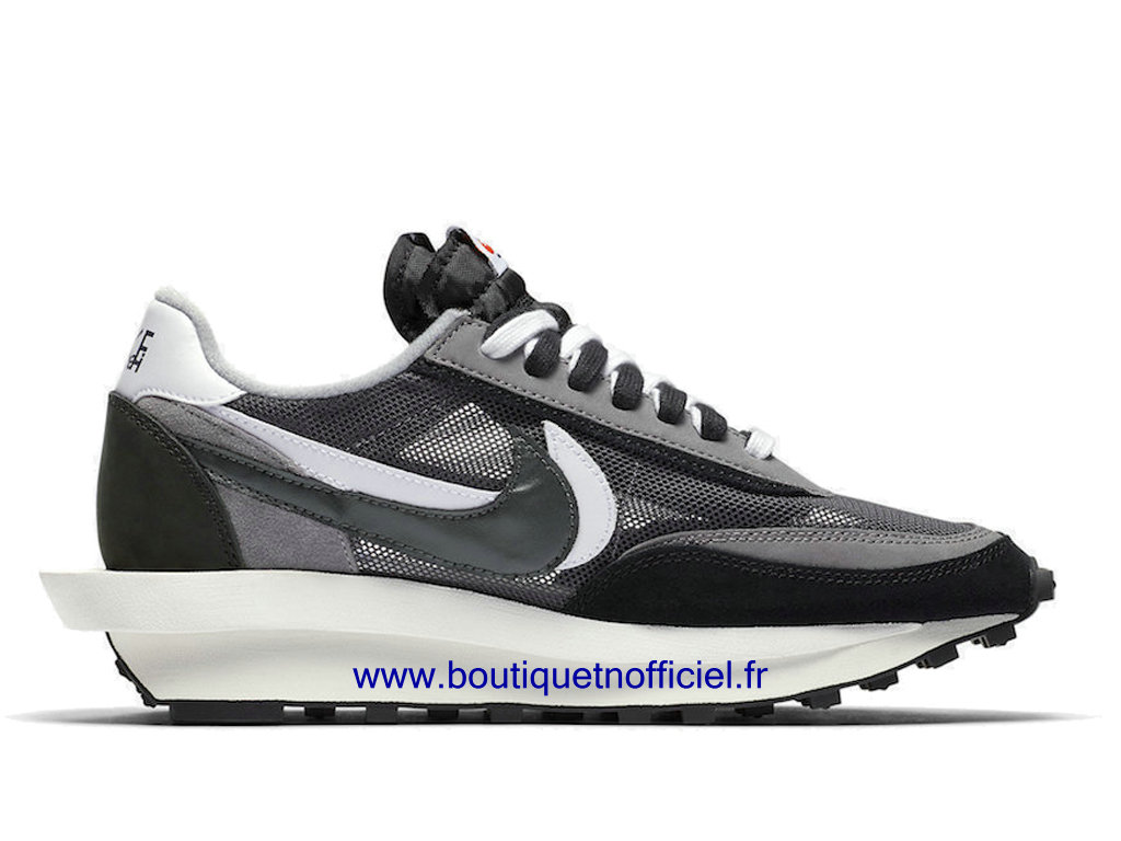 Officiel Sacai x Nike LDWaffle Chaussures Nike Sneaker Pas Cher Pour Homme Black/White BV0073-001