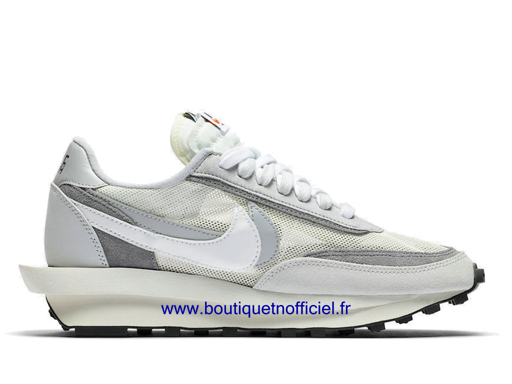 Officiel Sacai x Nike LDWaffle Chaussures Nike Sneaker Pas Cher Pour Homme White Grey BV0073-100